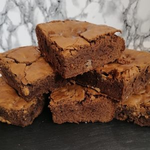 Double Belgian Chocolate Fudge Brownie Slices | Cakemagic | Regina Brennan